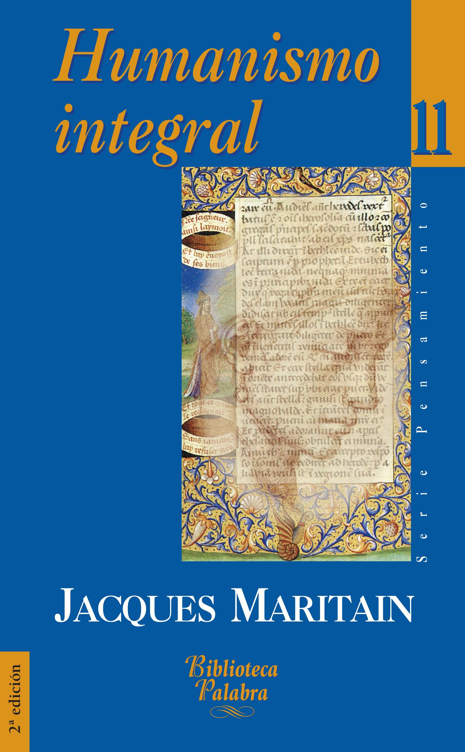 Libro: Humanismo integral de Jacques Maritain